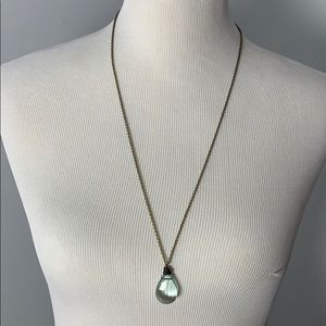 Jewelry - Ocean Blue Silver Wrapped Necklace